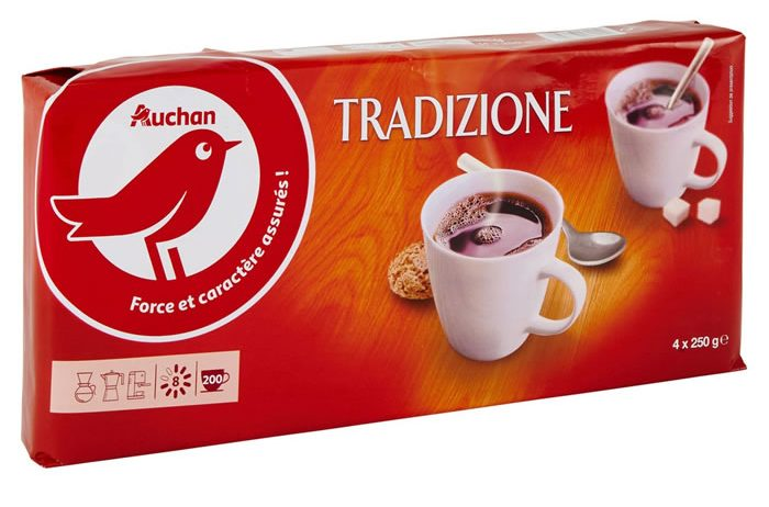 Auchan «Café soluble Tradition».
